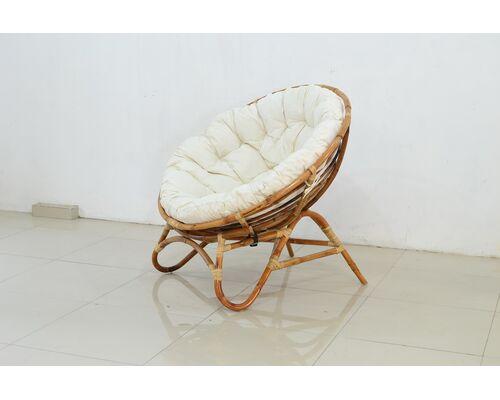 Круглое кресло Папасан Нуово натуральный ротанг - Фото №1