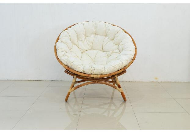 Круглое кресло Папасан Нуово натуральный ротанг - Фото №2