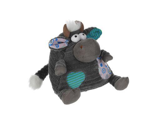 Мягкая игрушка Корова/Бык (серый) 18см - Фото №1