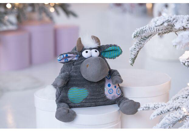Мягкая игрушка Корова/Бык (серый) 18см - Фото №2