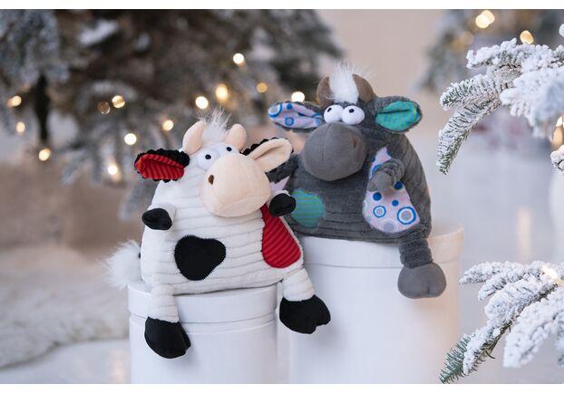 Мягкая игрушка Корова/Бык (черно-белый) 18см - Фото №2