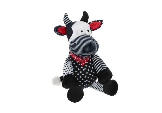 Мягкая игрушка Корова/Бык (черно-белый) 24см - Фото №1