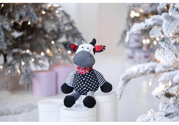 Мягкая игрушка Корова/Бык (черно-белый) 24см - Фото №2