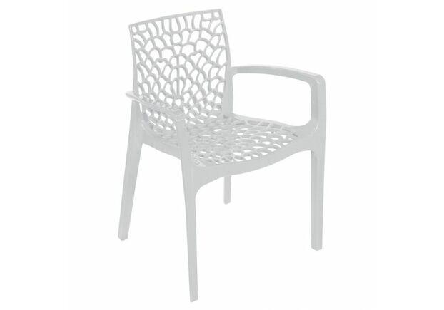 Кресло пластиковое GRUVYER bianco - Фото №1