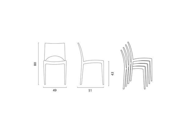 Пластиковый стул Paris bianco - Фото №2