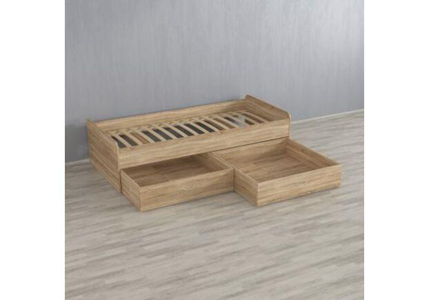 Кровать с двумя шухлядами А-108 Бетон - Фото №1