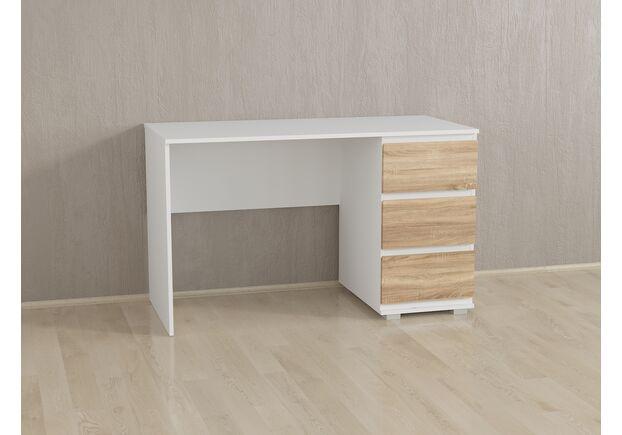Стол компьютерный на 3 ящика Б-5 Белый - Дуб Сонома - Фото №1