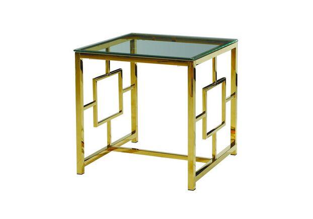 Кофейный стол CL-2 прозрачный + золото - Фото №1
