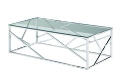 Журнальный стол прозрачный + серебро