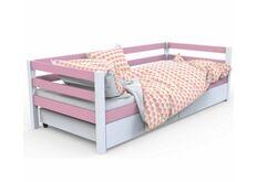 кровать детская Валенсия цвет белый с розовым 80*190
