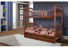 Кровать двухъярусная Кира 80x200 см темный орех