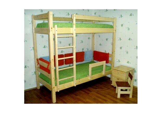 """Двухъярусная кровать """"Ирель-Комфорт"""" массив сосны 80*190 см - Фото №2"""