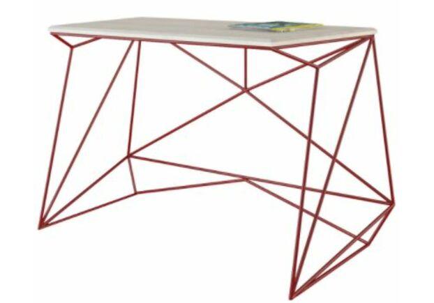 Письменный стол Alaska выбеленный ясень/рубиновый каркас - Фото №1