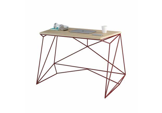 Письменный стол Alaska выбеленный ясень/рубиновый каркас - Фото №2