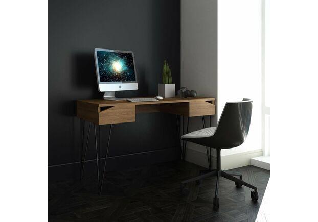 Письменный стол Dreamerрустикальный ясень/черный каркас - Фото №2