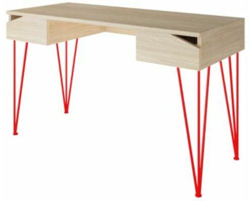 Письменный стол Dreamerвыбеленный ясень/красный каркас - Фото №1
