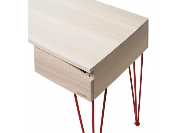 Письменный стол Dreamerвыбеленный ясень/красный каркас - Фото №2