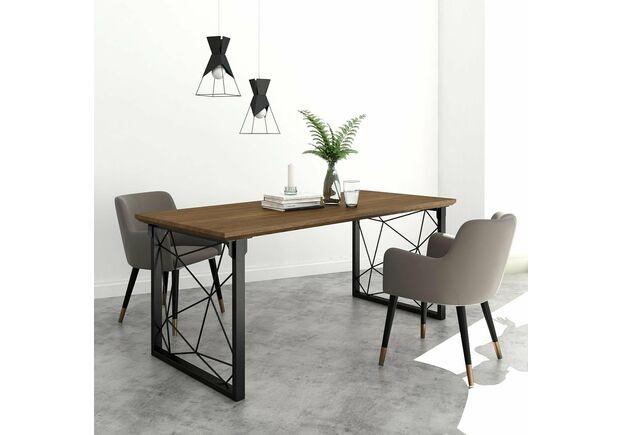 Конференц-стол Guipure натуральный ясень/черный каркас - Фото №2
