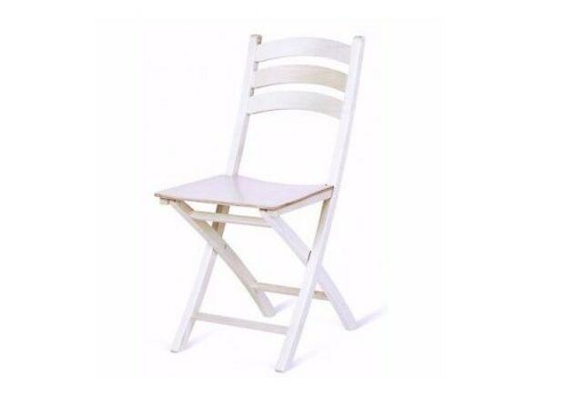 Стул раскладной WHITE Белый - Фото №1