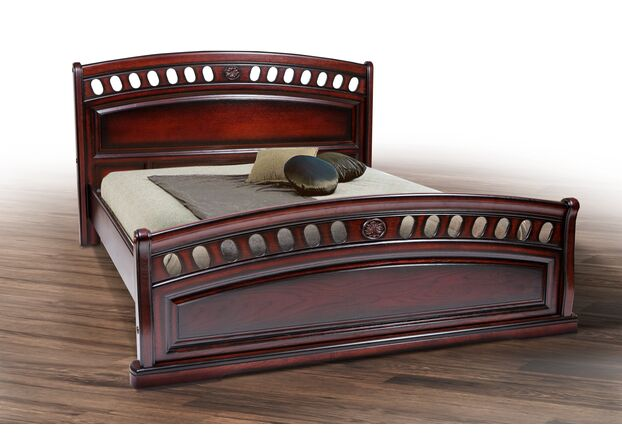 Двухспальная кровать из массива дуба Флоренция 160*200 см - Фото №1