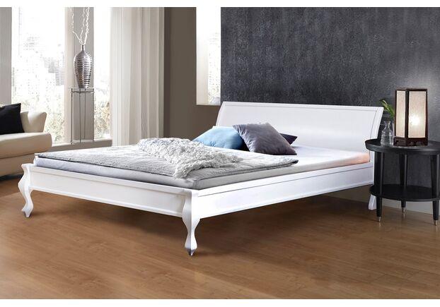 Двухспальная деревянная кровать Николь 180*200 см белая - Фото №1