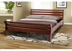Кровать Ретро-2 160x200 см темный орех