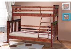 Кровать двухъярусная Скандинавия темный орех