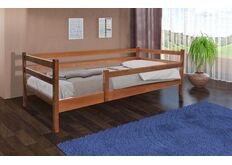 Фото Кровать деревянная с защитным бортиком Соня  80*190 см орех темный
