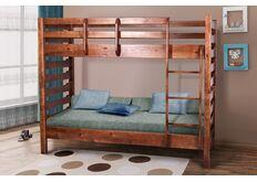 Кровать двухъярусная Троя 800x200 см темный орех