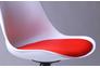 Барный стул Aster chrome белый+красный - Фото №3