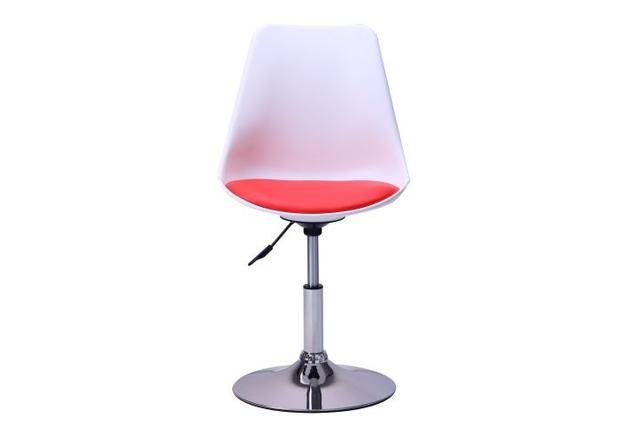Барный стул Aster chrome белый+красный - Фото №2