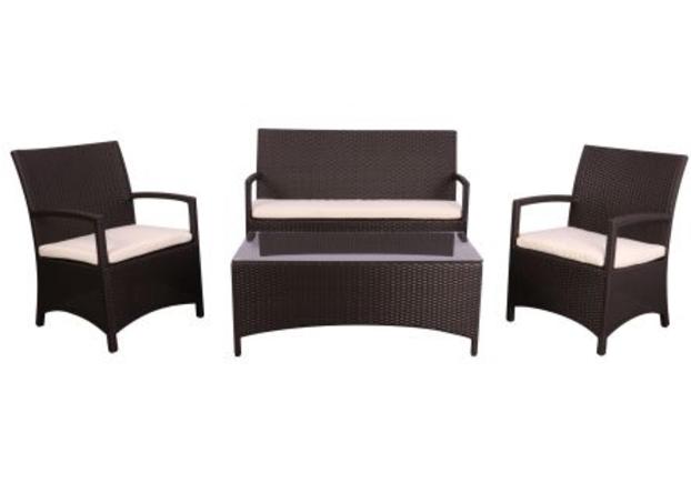 Комплект мебели Bavaro из ротанга Elit (SC-A7428) Brown MB1034 ткань A13815  - Фото №1