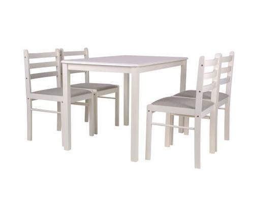Комплект обеденный Брауни (стол+4 стула) белый шоколад/латте - Фото №1