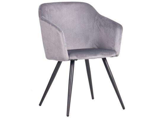 Кресло Lynette black/silver серый - Фото №1
