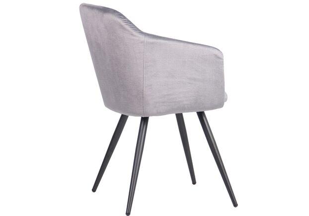 Кресло Lynette black/silver серый - Фото №2