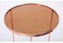 Стол журнальный Kalibri, rose gold, glass top - Фото №2