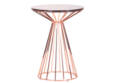Стол Canary, rose gold, glass top