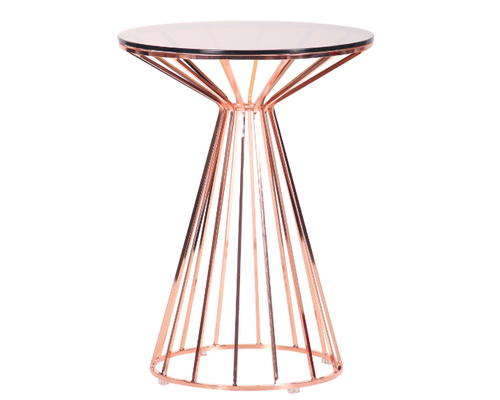 Стол Canary, rose gold, glass top - Фото №1