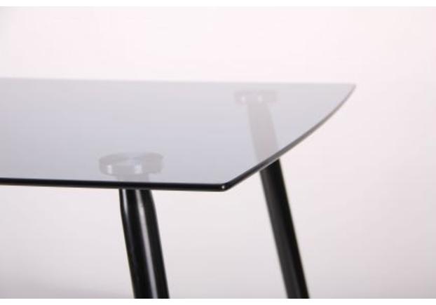 Стол обеденный Умберто черный/стекло тонированное серое - Фото №2