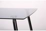 Стол обеденный Умберто черный/стекло тонированное серое - Фото №3