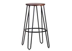 Высокий барный стул черный