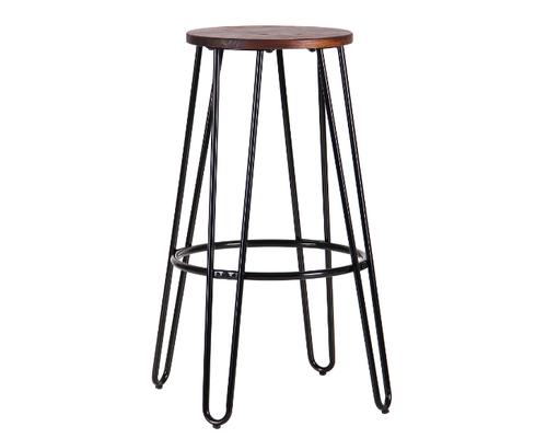 Высокий барный стул Hendrix черный - Фото №1