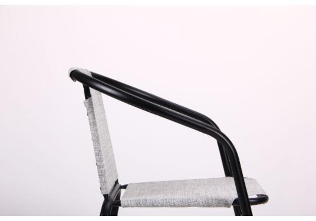 Стул Taco каркас черный ткань меланж серый - Фото №2