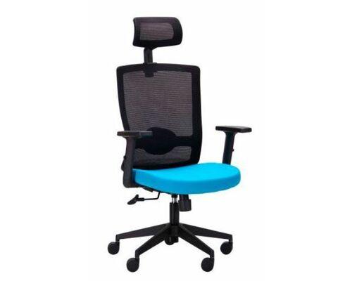Кресло Xenon HB черный/лазурь - Фото №1