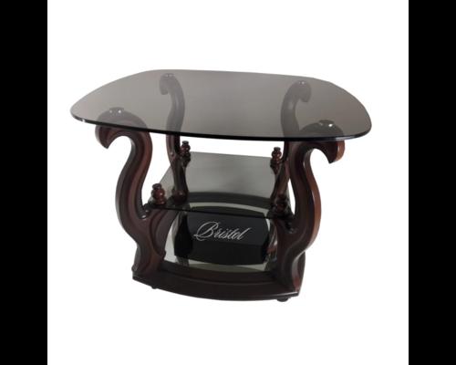 """Журнальный стеклянный стол """"Бристоль-1"""" 700*700*h500 мм стекло тонированное - Фото №1"""