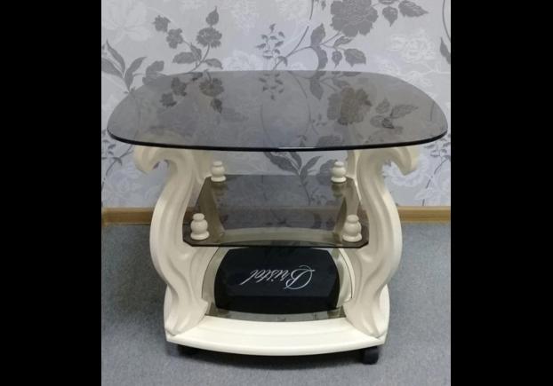 """Журнальный стеклянный стол """"Бристоль-1"""" 700*700*h500 мм стекло тонированное - Фото №2"""