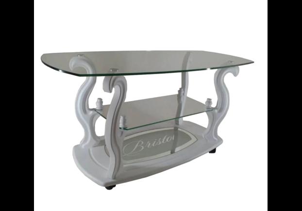 """Журнальный стеклянный стол """"Бристоль-3"""" 1100*500*h450 мм стекло прозрачное - Фото №2"""