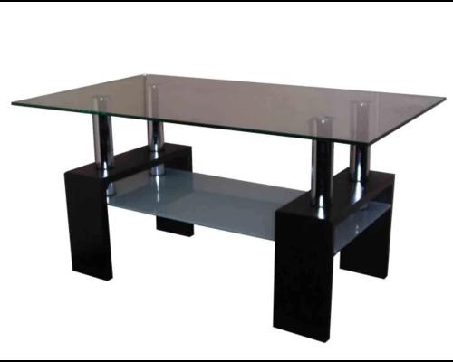 """Журнальный стеклянный стол """"Дипломат"""" 1000*600*h500 мм стекло тонированное - Фото №1"""