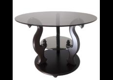"""фото Журнальный стеклянный стол """"Версаль"""" 700*700*500 стекло прозрачное"""
