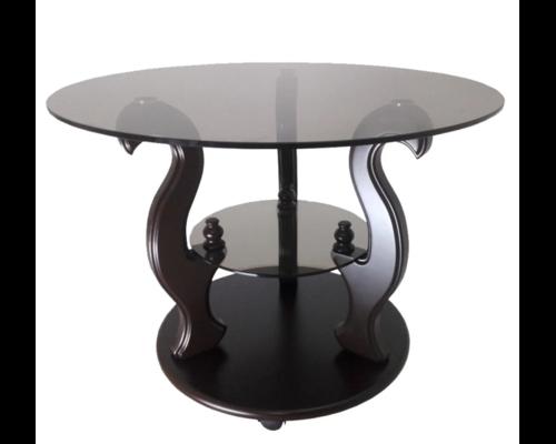 """Журнальный стеклянный стол """"Версаль"""" 700*700*500 стекло прозрачное - Фото №1"""